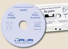 Details of french audiocassettes for children